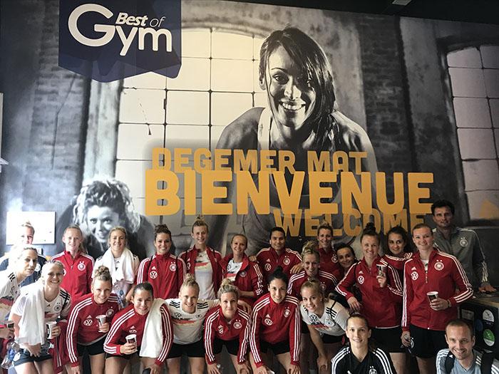 L'équipe de foot féminine d'Allemagne s'entraîne chez Best Of Gym