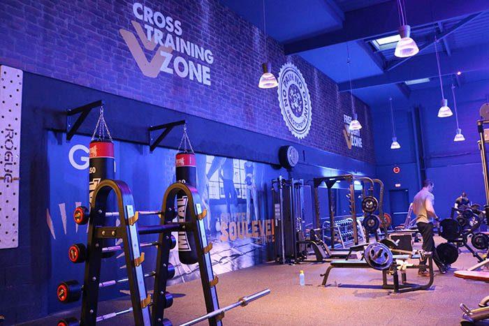 Zone de musculation et de cross training